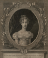 HRH The Duchess of Berry in an 1819 engraving by J. M. Gudin.png