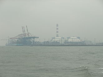 Haicang District - Port facilities at the southeastern promontory of Haicang District