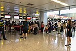 Hainan Airlines economy class check-in counters at ZBAA T1 (20180816064653).jpg
