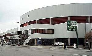 Copps Coliseum, Bay Street, looking North