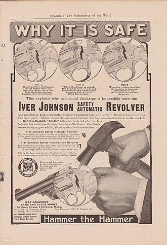 Iver Johnson - Advertisement from Iver Johnson touting its drop safe innovation.