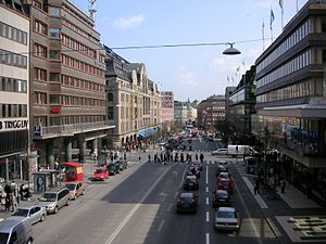 Norrmalm - Hamngatan, a street in Norrmalm.