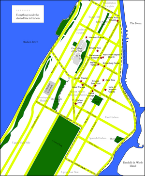 Map of Harlem