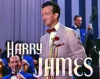 """By the Sleepy Lagoon - Bandleader Harry James in 1943. James had released a hit version of """"Sleepy Lagoon"""" in April 1942, which reached No. 1 in the Billboard charts."""