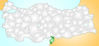 Issus, Cilicia - The geographical location of Issus is along a strategic bottleneck between inland mountainous terrain on a coastal plain within the current Turkish province of Hatay.
