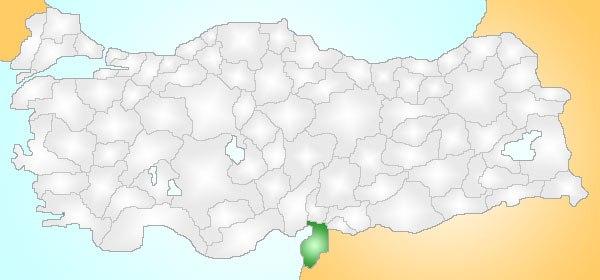 Hatay Turkey Provinces locator
