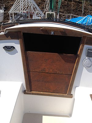 Companionway - Image: Hatchboards 2