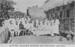 Pitcairn Islanders - Hattie Andre's school, Pitcairn Island.