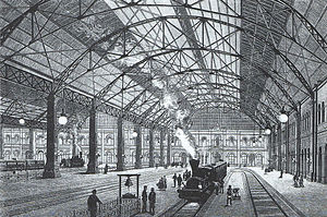 München Hauptbahnhof - The great hall constructed by MAN-Werk Gustavsburg (1885)