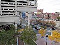 Haymarket busway from Boston Public Market roof, October 2015.JPG