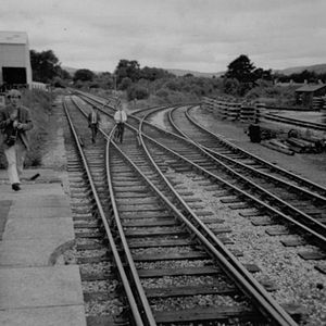 Teign Valley line - The junction for the Teign Valley line at Heathfield in 1970.
