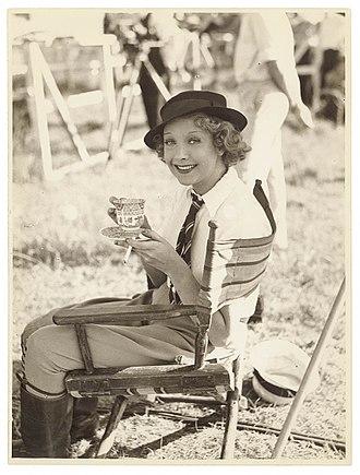 Helen Twelvetrees - Twelvetrees filming Thoroughbred in 1938.