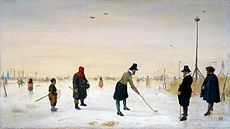 AVERCAMP Hendrick Kolfplayers on ice 1625