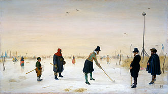 Kolven - Kolf players on ice. Hendrick Avercamp (1625)