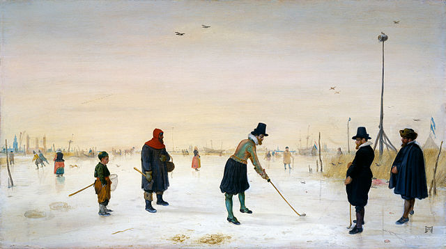 painting of kolf by Hendrick Avercamp (1625) – Dutch Kolf/Kolven (Medieval Golf)