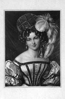 Henriette Sontag, Radierung von Franz Xaver Stöber, 1827 (Quelle: Wikimedia)