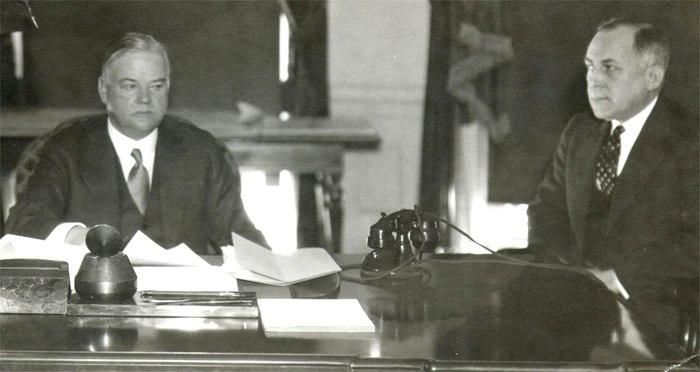 Herbert Hoover and Ted Joslin