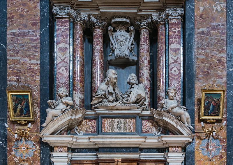 File:Hercules and Aloysius Bolognetti, inside of church Gesù e Maria, by C.Rainaldi, Rome, Italy.jpg