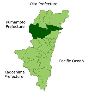 Higashiusuki District, Miyazaki - Higashiusuki District in Miyazaki Prefecture