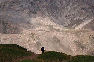 Hiker in Aconcagua National Park