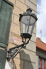 Historically street lamp in Náměšť nad Oslavou, Třebíč District.jpg