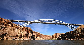 Hite Crossing Bridge - Image: Hite Crossing Bridge