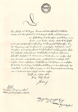 Hoechst AG - Image: Hoechst AG Baubewilligung 1862