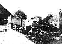Hoeve Mottet in Marenne na doorgang van 116 Panzer Divisie 1945 Ardennenoffensief.jpg