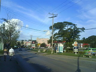 Holetown City in Saint James, Barbados