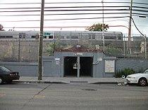 Hollis LIRR Station; 99th Avenue and 193rd Street entrance.JPG