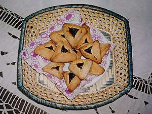 Homemade prune hamantashen