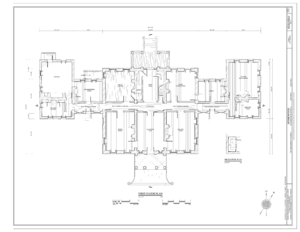 Homewood Museum - First floor plan