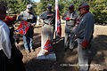 Honoring Confederate Veteran Lewis H Brown, one of eight Confedeate Veterans in the two Yellow Dirt Church Cemeteries on 8 October 2011 after original flags were illegally removed by Georgia Power.jpg