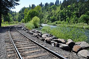 Hood River (Oregon) - Along the Mount Hood Railroad near the city of Hood River
