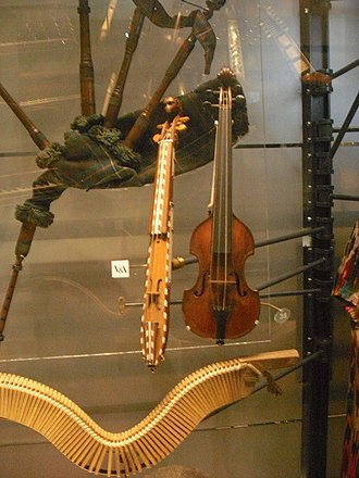 Kit violin - Two pochettes in the Horniman Museum, London, UK.