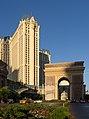 Hotel Paris with triumphal arch in Las Vegas 2013.jpg