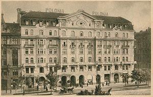 Hotel Polonia Palace - Image: Hotel Polonia w Warszawie po 1918