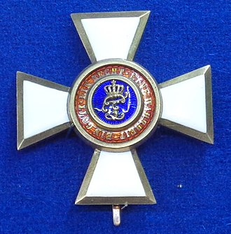 House and Merit Order of Peter Frederick Louis - Officer's cross of the House and Merit Order of Duke Peter Frederick Louis