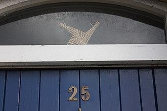 Brigid's cross - Brigid's cross set over a doorway
