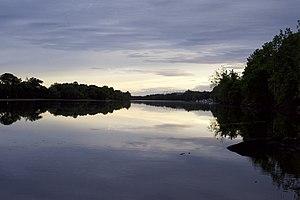 Housatonic River - Housatonic river by Shelton at sunset.