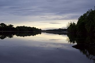 Housatonic River - Housatonic river by Shelton at sunset.