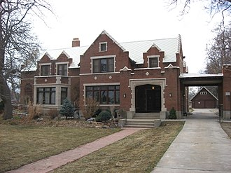 St. Vrain Historical Society - Hoverhome, a 1910s English Tudor, Gothic Revival home