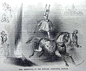 Howard Athenaeum - Mrs. Sherwood at the Howard Athenaeum, 1854.
