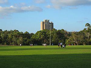 Monash University, Clayton campus - Howitt Hall at the Clayton campus in Victoria Australia, site of Briggs Hall and Jackomos Hall
