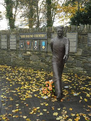Hugh O'Flaherty - Memorial to Monsignor O'Flaherty located in Killarney, Ireland.
