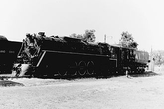 Milwaukee Road 261 - Milwaukee Road 261 on display at the National Railroad Museum, Green Bay in August 1970