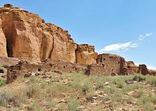 A color picture of a large masonry ruin