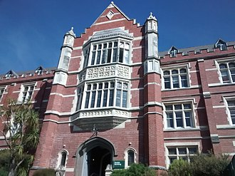 Tertiary education in New Zealand - Victoria University of Wellington's Hunter Building (completed 1906)