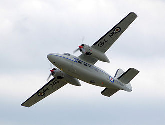 Percival Pembroke - Preserved Pembroke C.1 WV740 giving a flying display