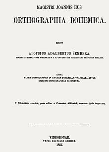 Orthographia Bohemica Wikipedia